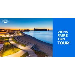 La campagne estivale 2019 de Tourisme Gaspésie «Viens faire ton Tour!»...
