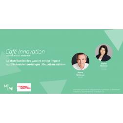 À L'AGENDA - Café Innovation – La distribution des vaccins et son impact sur l'industrie touristique: 2e édition, le vendredi 26 mars de 8h30 à 9h30