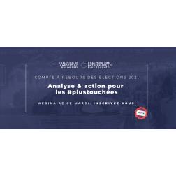 À SAVOIR: Webinaire - Analyse & action pour les plus #plustouchées à midi le 14 septembre