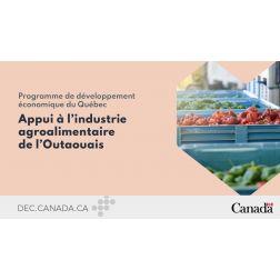 DEC Canada: 280 000 $ en appui à l'industrie agroalimentaire de l'Outaouais