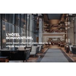 Nouveau site Web Hôtel Bonaventure Montréal