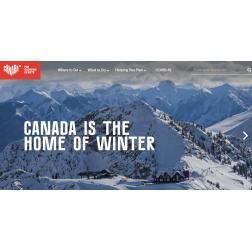 CANADA IS THE HOME OF WINTER:  Campagne Destination Canada - Marché américain en collaboration avec Tourisme Québec, Tourisme BC et Travel Alberta