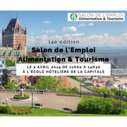 Salon de l'Emploi Alimentation & Tourisme organisé par le Cégep Limoilou le 2 avril