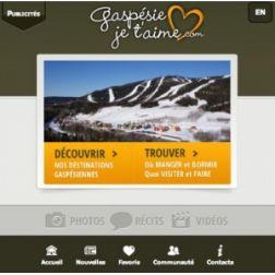 Nouvelle version mobile de Gaspesiejetaime.com