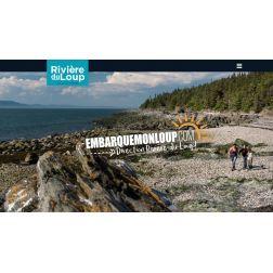 Nouveau site Web de Tourisme Rivière-du-Loup aux couleurs de la campagne «Embarquemonloup.com»