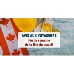 À SAVOIR: Les restrictions de voyage au Canada restent en vigueur pendant la longue fin de semaine de septembre