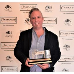 Le chef Jean-Sébastien Sicard du restaurant Chez Mathilde, lauréat du prix Chapeau restaurateurs!