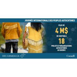 Communautés autochtones - 4 M$  pour soutenir les emplois, projets...