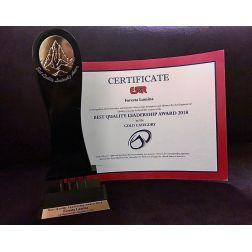 DISTINCTION: Une première... Foresta Lumina remporte le «Best Quality Leadership Award»