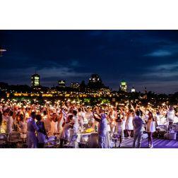 10e anniversaire du Dîner en Blanc de Québec le 31 juillet 2020