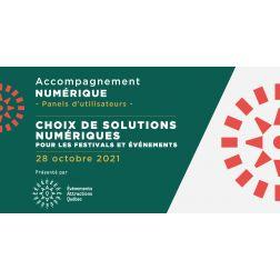 Formation 28 octobre: choix de solutions numériques pour les festivals