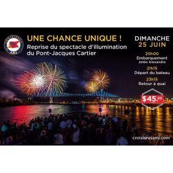Reprise du spectacle d'illumination du Pont Jacques-Cartier le dimanche 25 juin