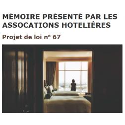 Projet de loi 67 - Mémoire présenté par les associations hôtelières du Québec