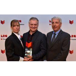 Janic Thibodeau et Christian Dufour, de l'Auberge La Marguerite à L'Islet-sur-Mer, lauréats du prix Chapeau restaurateurs région Ch     audière-Appalaches, remis par la Fondation ARQ