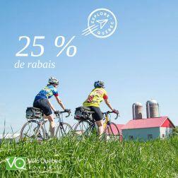 Vélo Québec Voyages présente de nouveaux forfaits à vélo au Québec, avec le soutien de «Explore Québec sur la route»