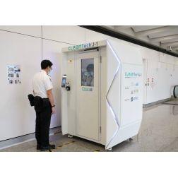 T.OM. - COVID-19 : L'aéroport de Hong Kong met la technologie au service de la désinfection
