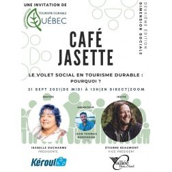 Dernière chance de participer! Tourisme Durable Québec présente son second Café-Jasette mardi prochain 21 septembre de 12h à 13h