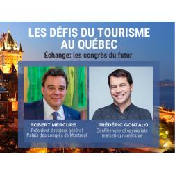 VOUS AVEZ MANQUÉ: le FACEBOOK LIVE : Échange avec Robert Mercure, pdg du Palais des congrès de Montréal  «Les congrès du futur!»  le 29 avril à 15 h