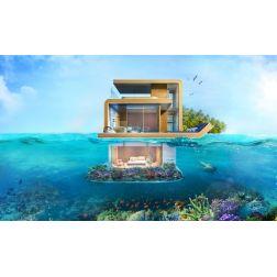 Une villa flottante à Dubaï...