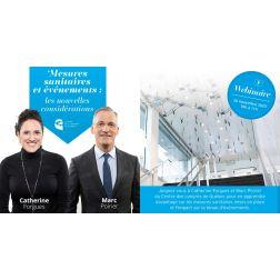 WEBINAIRE - Centre des congrès de Québec: Mesures sanitaires et événements: les nouvelles considérations le 26 novembre 2020 à 10h
