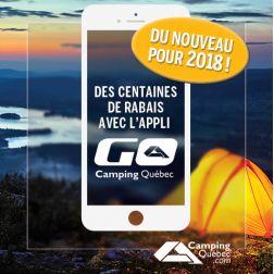 Des rabais électroniques dans les campings du Québec avec l'appli «Go Camping Québec»