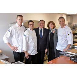 Le premier ministre du Québec, François Legault, rend visite à l'équipe du Bocuse d'Or