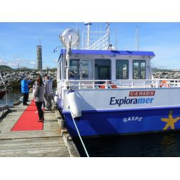 Exploramer: Un achalandage record et des travaux d'agrandissement du nouveau bateau