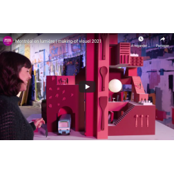 Montréal en Lumière s'associe à OBOX - «Making-of» visuel