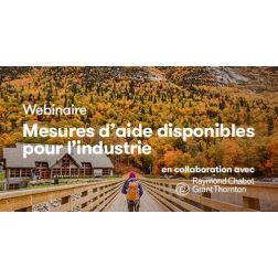 À NE PAS MANQUER AUJOURD'HUI À 11h30: Webinaire: Mesures d'aide disponibles pour l'industrie du tourisme
