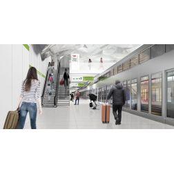 Investissement de 500 000 M $ dans le Réseau express métropolitain (REM) à l'aéroport international Montréal-Trudeau