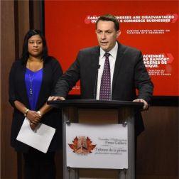 Xavier Gret était présent... Rapport du vérificateur général: Les règles fiscales fédérales donnent l'avantage aux plateformes numériques étrangères...