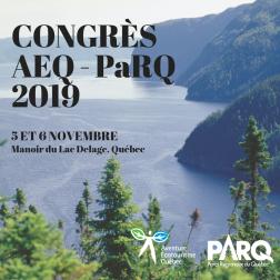 Sylvie Bernier invitée d'honneur au Contrès AEQ-PARQ les 5 et 6 novembre 2019 au Manoir du Lac Delage