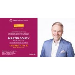 Martin Soucy, pdg de l'AITQ - conférence sur les défis, opportunités, retombées... le 12 mars