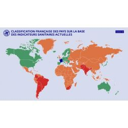 Voyage : la carte actualisée des pays verts, orange, rouge
