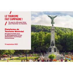 Tourisme Montréal dévoile sa plateforme et tient un débat pour les élections municipales