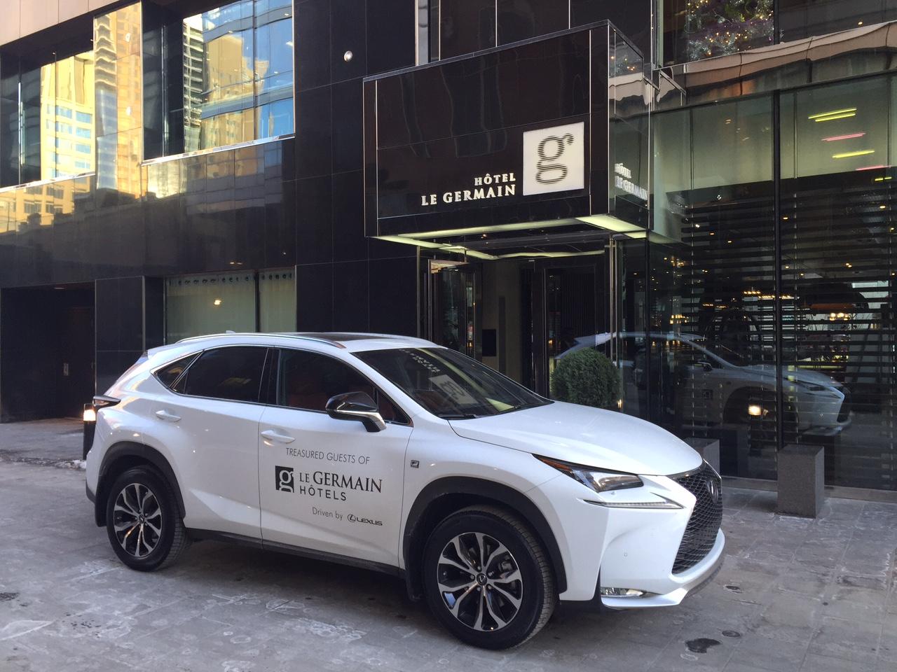 Les invités de Hôtels Le Germain sont désormais propulsés par Lexus. dans Actualité Hôtels